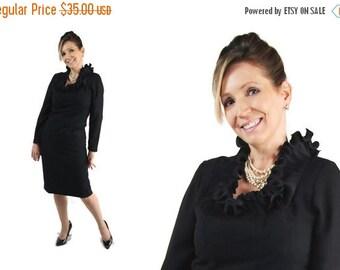 On Sale 60s Alfred Werber Dress, Mad Men, Black, Wedding, Wiggle Dress, Prop