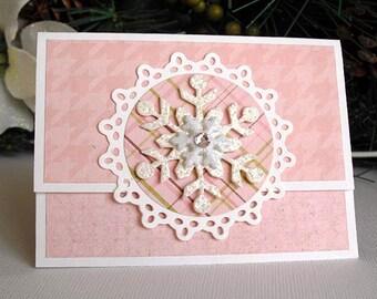 Pink SNOWFLAKE Gift Card Holder