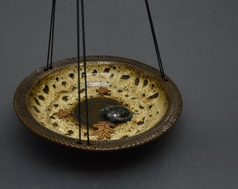 Birdbath Bird Feeder Pottery Small  Available now!