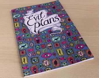 Evil Plans - A5 Notebook - Sketchbook - Journal