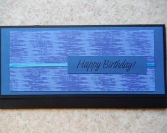 Birthday Cash/Check Gift Holder - blues
