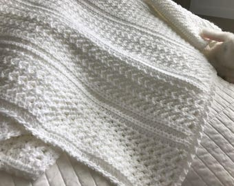 Classic White Baby Blanket