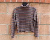 Turtle neck stripe top size small