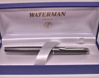 "Vintage Waterman Paris Pen in Case Advertisement Pen "" Society Of Petroleum Engineers"""
