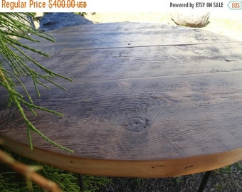 """Limited Time Sale 10% OFF Antique Barnwood - 17"""" Height Round Coffee Table, 30 inches"""