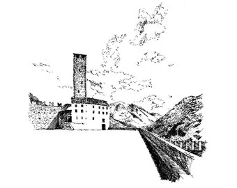 the Castelgrande, Bellinzona — limited edition archival print