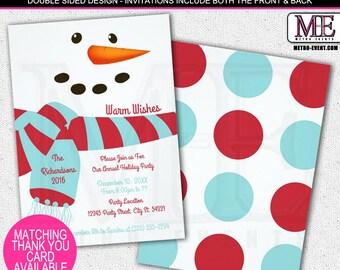 Fun, Snowman Holiday Party Invitations