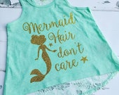 mermaid hair lace back tank top