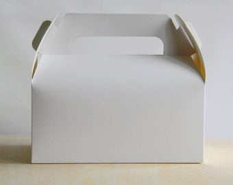 Set of 20, White Cake Box, Gift Box, Favor, Gift, Party