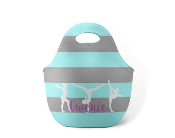 Personalized Lunch Tote - Gymnastics - Custom Lunch tote for Children