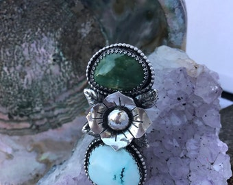 Darling Ring - Blue Moon and Pixie Turquoise