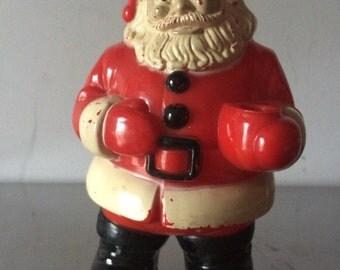 Plastic Santa Light Fixture?? / Vintage Santa Figure