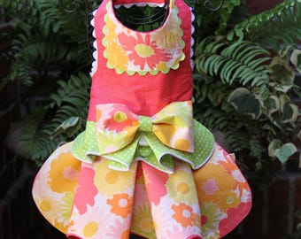 SAMPLE SALE:  Burst of Spring Blooms Dog Dress