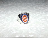 Custom Order Chicago Cubs Stainless Steel Ring Size 8