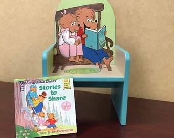 CUSTOM Hand Painted Book classic Child's chair (3 to 4 weeks turnaround)