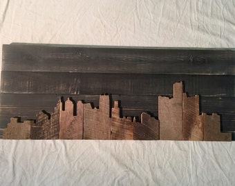 "Hand Crafted Detroit 48"" Skyline"