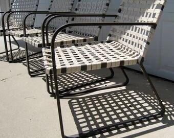 """Brown Jordan """"Lido"""" set of four lounge chairs vintage mid century modern"""