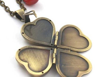 Heart Locket Chain in brass