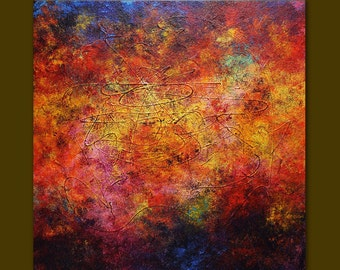 Acrylic painting abstract 45 palette knife