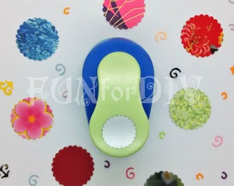 35mm extra large size lever type paper punch -- scallop circle
