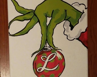 Christmas painting, The Grinch