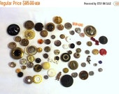 Sale, Antique Button Lot - Vintage Buttons - Vintage Sewing Supplies - Theater Supplies - Reenactment Buttons - Collectible Buttons - Button