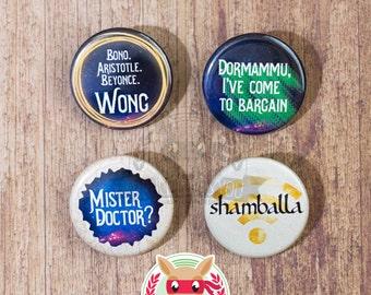 Doctor Strange inspired buttons - pinback or magnets ||| Benedict Cumberbatch Mads Mikkelsen Wong Avengers Kaecilius