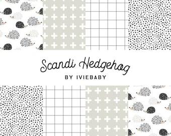 Scandi Hedgehog Bedding. Baby Bedding. Hedgehog Baby Bedding. Neutral Baby Bedding. Crib Sheet. Crib Skirt.