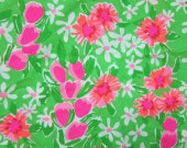 Green Everything Nice cotton poplin 9 X 18 or 18 X 18 inches  ~Lilly Pulitzer~