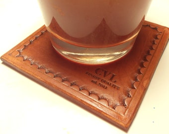 Leather Coaster Set of 4