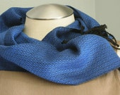 Handwoven Tencel scarf Bl...