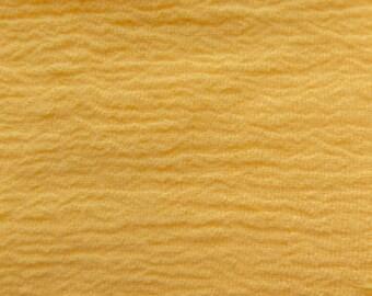 52 Inch Cotton Gauze Yellow Fabric by the yard - 1 Yard