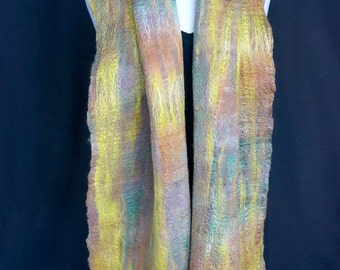 Lichen. Moss. Green. Merino Wool. Silk. Luxury. Fringed.