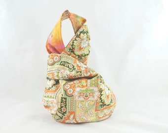 Japanese Knot Bag Short Handle Collage