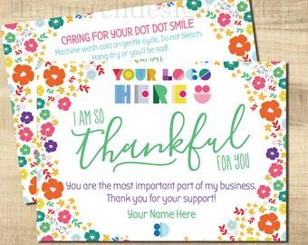 Dot Dot Thank You Care Cards, Dot Dot Care Cards, Dot Smile Marketing, Dot Smile Thank You, floral, bright