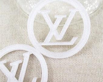 White Louis Vuitton Cabochon Flatback Resin Size 40*40mm