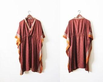 Bohemian Dress / Indian Dress / Caftan / Angel Sleeve / Ethnic Dress / Hippie Sundress