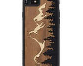 Grand Teton Inlay iPhone 7 Real Wood Traveler Bumper Case - Made in the USA - FREE Shipping