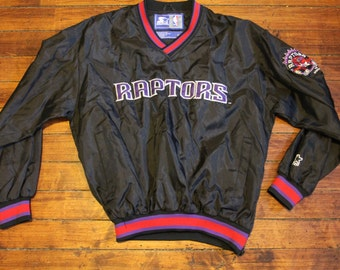 Toronto Raptors Starter Jacket vtg NBA basketball vintage pullover windbreaker small
