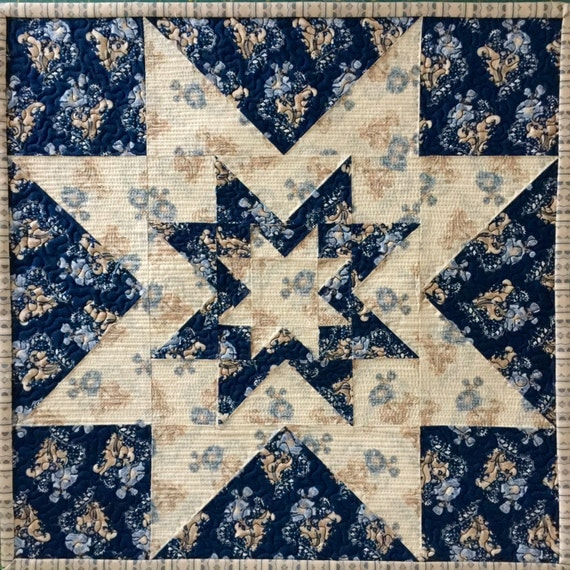 Triple Star Block Quilt Pattern ~ PDF