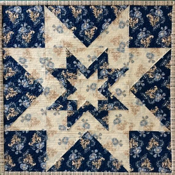 Triple Star Block Quilt Pattern ~ PDF