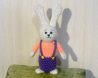 Hand Knit Soft Toy  hare