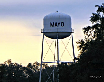 Custom Photo Print / Add Your Name Photo / Mayo Water Tower / MVMayoPhotography / Free US Shipping