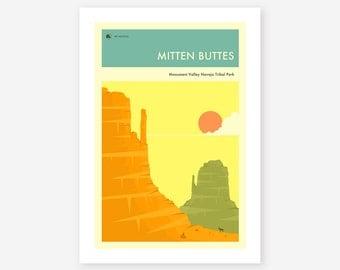 MONUMENT VALLEY (Giclée Fine Art Print/Photo Print/Poster Print) 'Mitten Buttes' by Jazzberry Blue