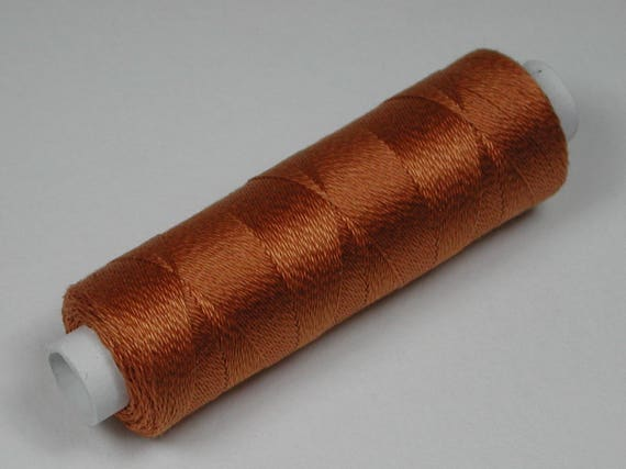 6044 color copper silk, cotton by Venne, knitting and crochet yarn for the miniature hand work