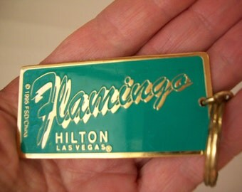 Vintage Key Ring Flamingos, Kathleen, Hilton Las Vegas, 1980's, pink flamingos, rosesandbutterflies, crafts and supplies, steampunk