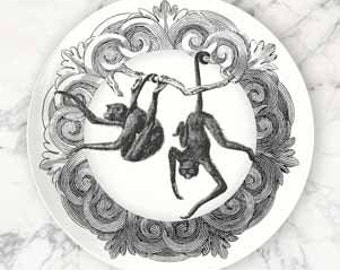 Monkeys I, Spider monkeys melamine plate