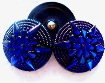 Czech  Glass  Buttons  3 pcs   Gorgeous    36mm  IVA XL 020