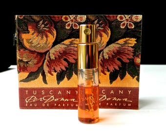 3 Vintage Tuscany per Donna by Estee Lauder Perfume Eau de Parfum Mini Purse Spray  and Two Travel Samples in Folder