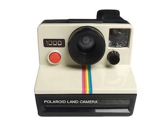 Polaroid Camera - Polaroid 1000 Red Button - Polaroid Land Camera - Vintage Instant Film Camera.